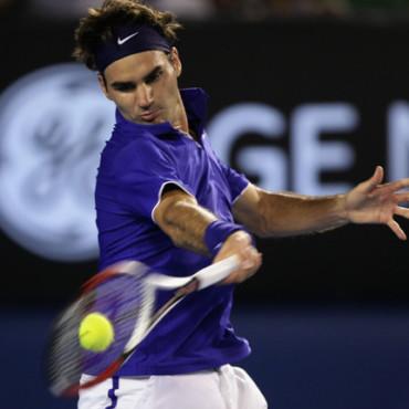 Roger Federers forehand